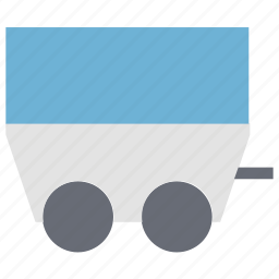 barrow, cart, coal trolley, industrial, mine cart, trolley icon