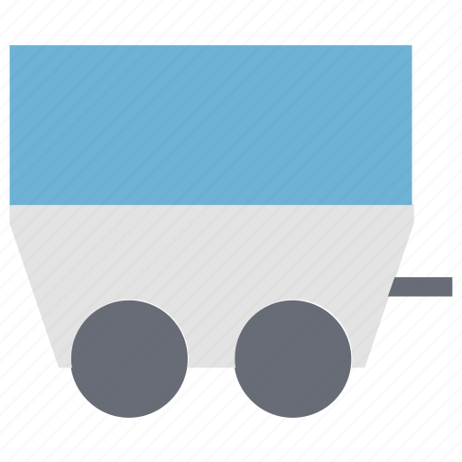 Barrow, cart, coal trolley, industrial, mine cart, trolley icon - Download on Iconfinder