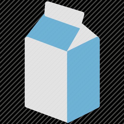 juice pack, milk box, milk carton, milk pack, packaging icon