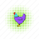 bird, chicken, comics, domestic, hen, livestock, poultry icon