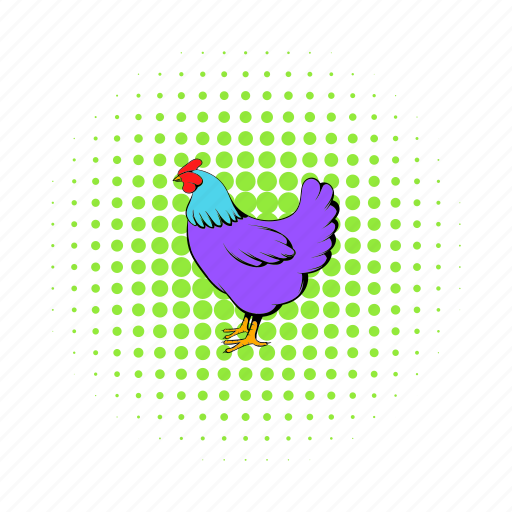 bird, chicken, comics, domestic, hen, livestock, poultry icon