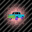 transportation, comics, automobile, farmer, pickup, truck, vehicle