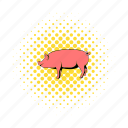 animal, comics, domestic, farm, mammal, pig, piglet icon