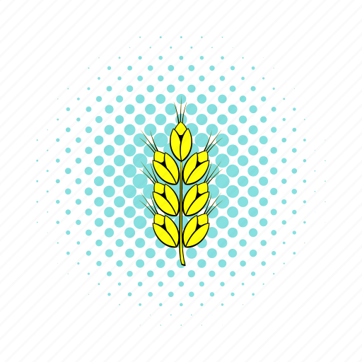 agriculture, comics, grain, nature, plant, seed, wheat icon