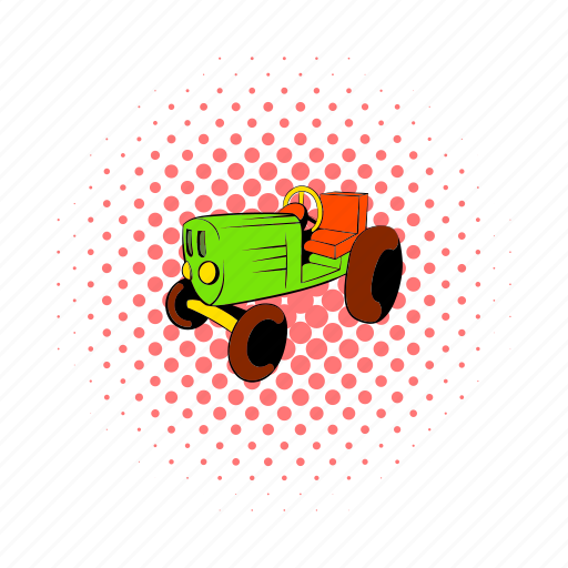 agriculture, comics, equipment, farming, field, machinery, tractor icon