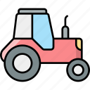 tractor, farming, vehicle, agriculture