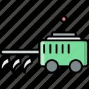 cultivator, machine, vehicle, farming