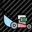 lawn, mower, gardening, grass, cutter, tool