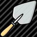 trowel, tool, construction, equipment