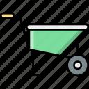 wheelbarrows, barrow, wheel, vehicle, labour