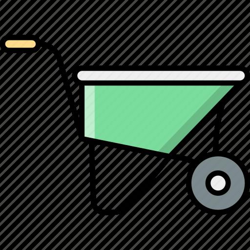 Wheelbarrows, barrow, wheel, vehicle, labour icon - Download on Iconfinder