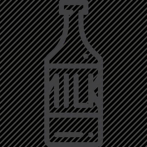 bottle, glass, milk icon