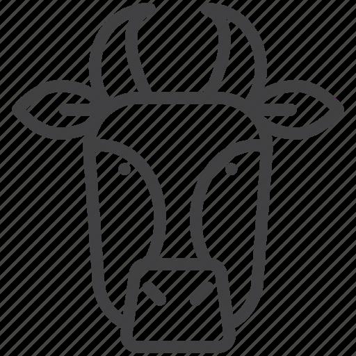 bull, cow, head icon