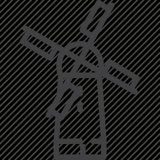 flour, mill, windmill icon