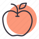 apple, carbohydrate, fruit, healthy, starch icon