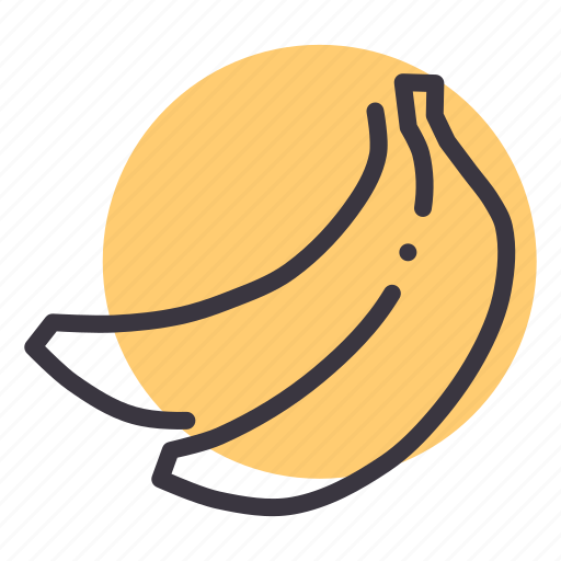 Banana, eat, food, fruit, healthy icon - Download on Iconfinder