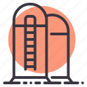 agriculture, barn, farm, grain, silo, storage, storehouse icon