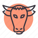 agriculture, animal, bull, cow, farm, livestock, ox icon