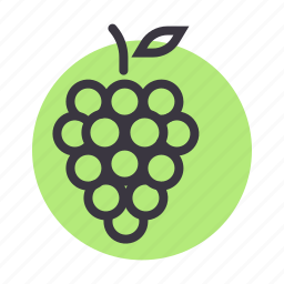 fruit, grapes, healthy, wine icon