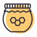 bottle, honey, jar, organic, sugar, sweet icon