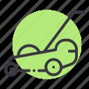 garden, gardening, grass, lawn, mowbot, mower, robotic icon