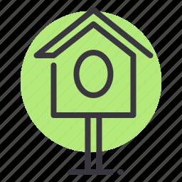 agriculture, bird, birdhouse, nest, nesting, spring, tree icon