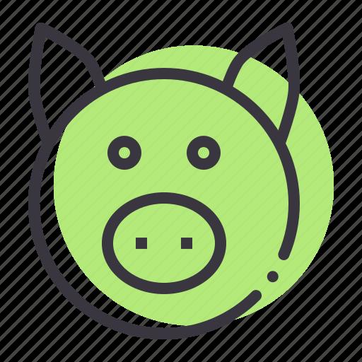farm, livestock, meat, pig, piggy, saving, savings icon
