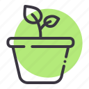 ecology, garden, gardening, grow, leaf, plant, pot icon