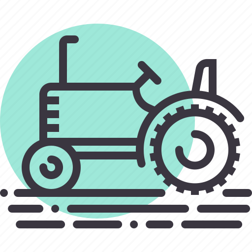 agriculture, farm, farming, tractor, transport, transportation, vehicle icon