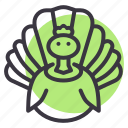 bird, chicken, farm, meat, poultry, thanksgiving, turkey icon