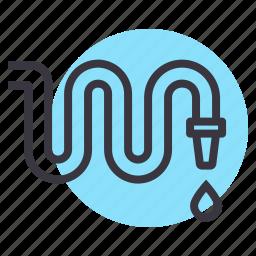 farm, farming, garden, gardening, hose, pipe, water icon