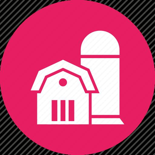 agriculture, barn, farm, silo, storage, storehouse, village icon