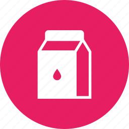 cow, dairy, milk, packaged, product, readymade, tetrapack icon