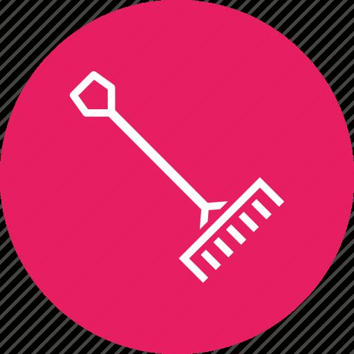 agriculture, farm, farming, garden, gardening, rake, tool icon