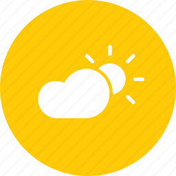cloud, forecast, sun, sunny, weather icon
