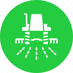 agriculture, crop, farm, farming, field, plant, tractor icon