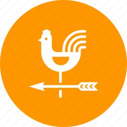 cock, direction, instrument, rooster, vane, weather, wind icon