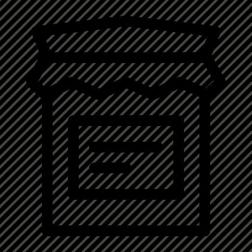 bottle, food, jam, jar, sauce icon