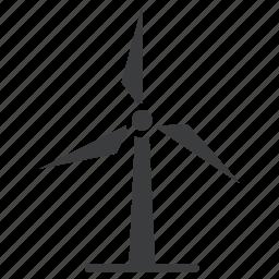 electricity, energy, mill, power, turbine, wind, windmill icon