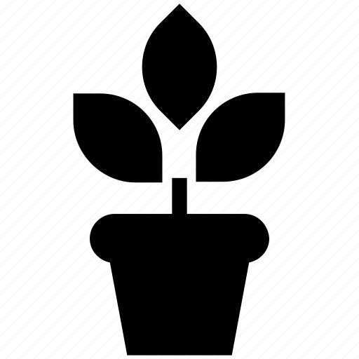 gardening, growing, natural, plant, pot, sapling, young plant icon