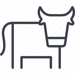 agriculture, animal, cow, farm, farming icon
