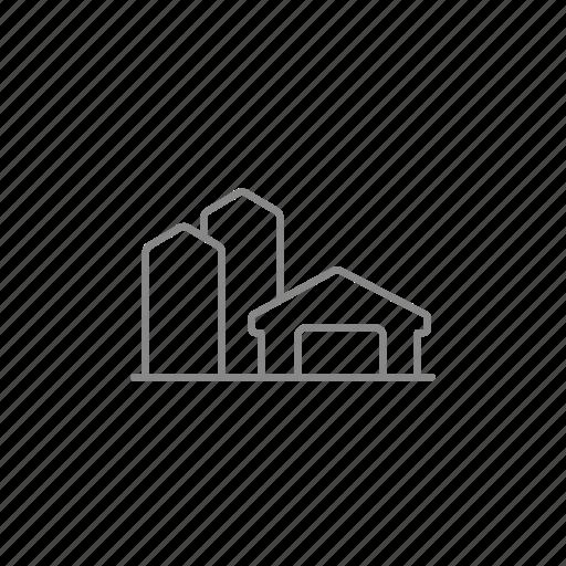 barn, building, farm, granary, hangar, storage, warehouse icon