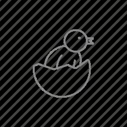 bird, chick, chicken, egg, eggshell, embryo, hen icon