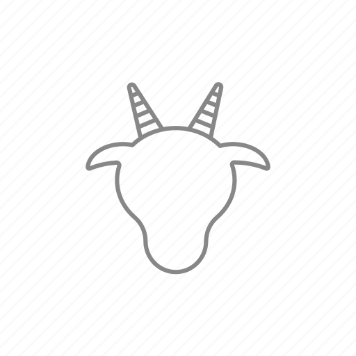 beef, bison, bull, cow, head, horn, oxen icon