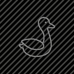 beak, canard, drake, duck, duckling, goose, poultry icon