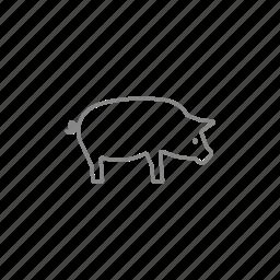 bacon, boar, ham, pig, piglet, pork, swine icon