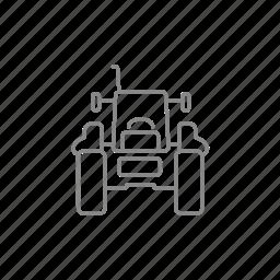 machine, machinery, tractor, transport, vehicle, wheel icon