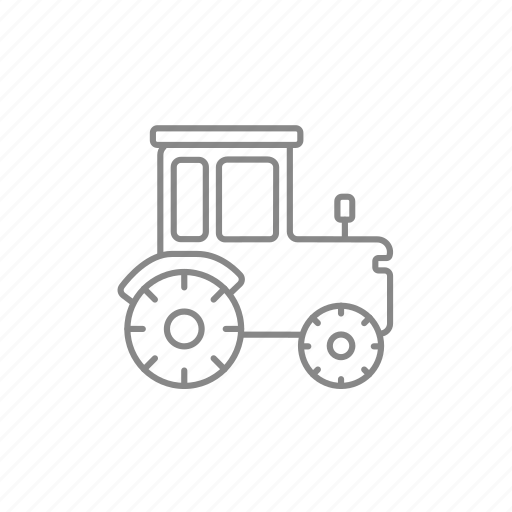 auto, machine, machinery, tractor, transport, vehicle, wheel icon