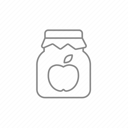 apple, dessert, jam, jar, jellies, marmalade, sweet icon