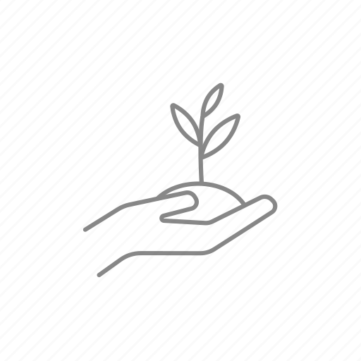 care, hand, plant, seed, soil, sprout, tree icon